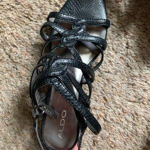 Worn 2x Aldo Strappy Slightly Wedgie Sandal